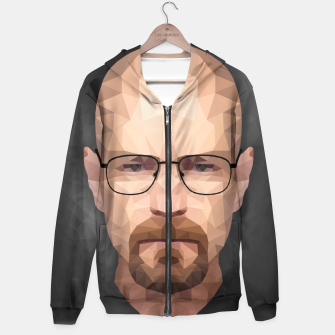 Thumbnail image of Walter White - Portrait - Low Poly Hoodie, Live Heroes