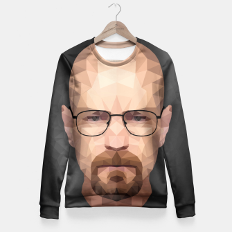 Thumbnail image of Walter White - Portrait - Low Poly Fitted Waist Sweater, Live Heroes