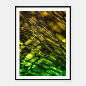 Rock Pool in Green and Gold Framed poster thumbnail image