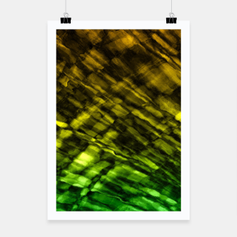 Rock Pool in Green and Gold Poster thumbnail image
