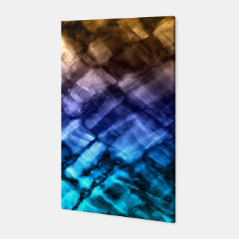 Rock Pool in Blue and Gold Canvas thumbnail image
