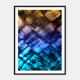 Rock Pool in Blue and Gold Framed poster thumbnail image