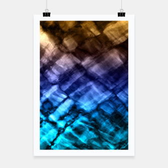 Rock Pool in Blue and Gold Poster thumbnail image