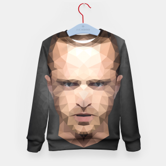 Thumbnail image of Jesse Pinkman - Portrait - Low Poly Kid's Sweater, Live Heroes