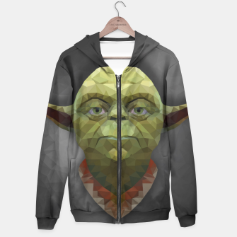 Thumbnail image of Yoda - Portrait - Low Poly Hoodie, Live Heroes