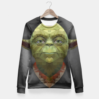 Thumbnail image of Yoda - Portrait - Low Poly Fitted Waist Sweater, Live Heroes