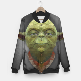 Thumbnail image of Yoda - Portrait - Low Poly Baseball Jacket, Live Heroes