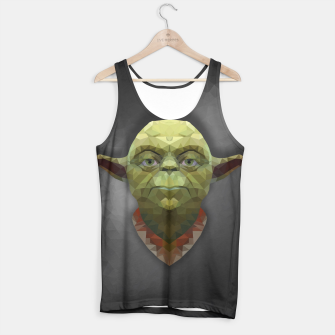 Thumbnail image of Yoda - Portrait - Low Poly Tank Top, Live Heroes