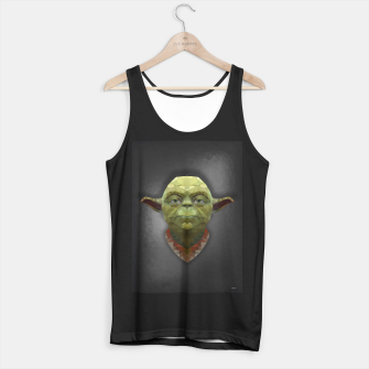 Thumbnail image of Yoda - Portrait - Low Poly Tank Top regular, Live Heroes