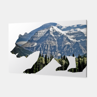 Thumbnail image of Free Spirit Rocky Mountains Big Bear Canvas, Live Heroes