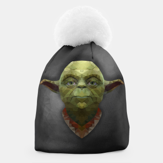 Thumbnail image of Yoda - Portrait - Low Poly Beanie, Live Heroes