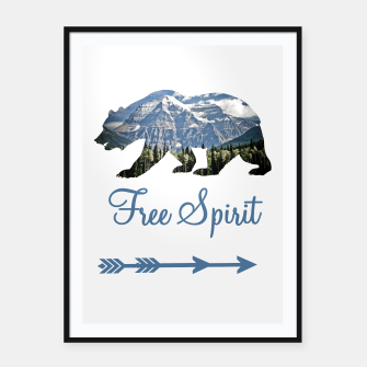 Thumbnail image of Free Spirit Rocky Mountains Big Bear Framed poster, Live Heroes