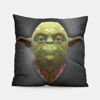 Thumbnail image of Yoda - Portrait - Low Poly Pillow, Live Heroes