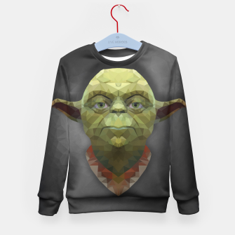 Thumbnail image of Yoda - Portrait - Low Poly Kid's Sweater, Live Heroes