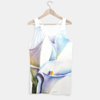 Thumbnail image of THREE WHITE CALLA LILIES Tank Top, Live Heroes