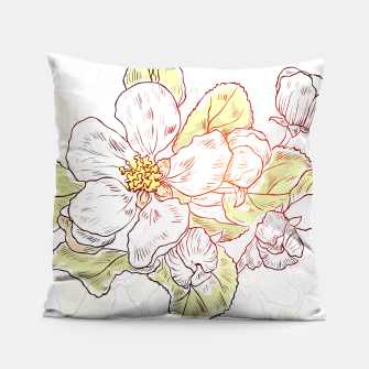 Thumbnail image of Pretty Summer Flowers Pillow, Live Heroes
