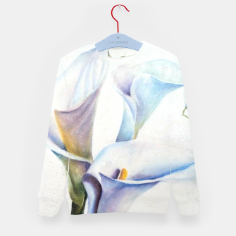 Thumbnail image of THREE WHITE CALLA LILIES Kid's Sweater, Live Heroes