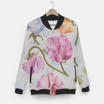 Thumbnail image of PASTEL SWEETPEAS ON A WHITE LATTICE Baseball Jacket, Live Heroes