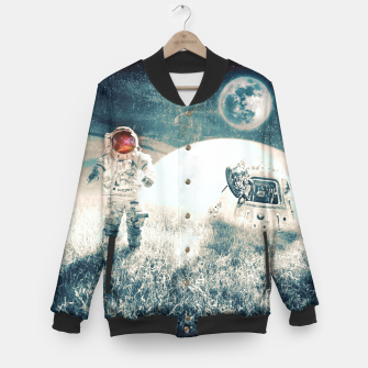 Thumbnail image of Distant Traveler Baseball Jacket, Live Heroes