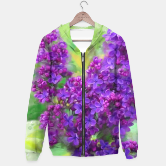 Thumbnail image of Watercolor Lilac Hoodie, Live Heroes