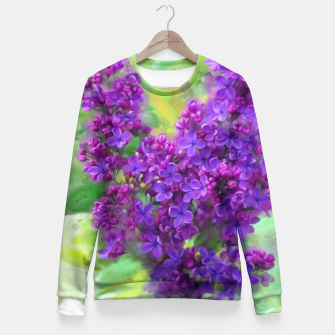 Thumbnail image of Watercolor Lilac Fitted Waist Sweater, Live Heroes