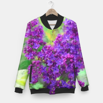 Thumbnail image of Watercolor Lilac Baseball Jacket, Live Heroes