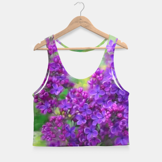 Thumbnail image of Watercolor Lilac Crop Top, Live Heroes