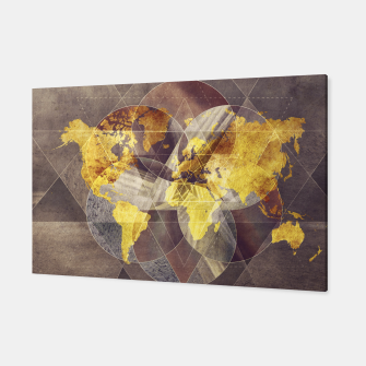 Thumbnail image of world map yellow sacred Canvas, Live Heroes