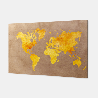 Thumbnail image of world map yellow Canvas, Live Heroes