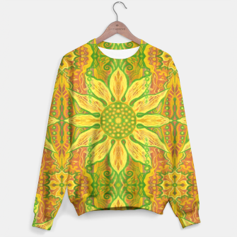 Thumbnail image of Sun Flower,  yellow, green and orange Sweater, Live Heroes