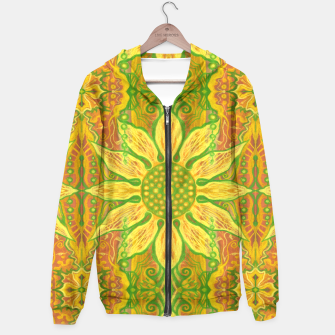 Thumbnail image of Sun Flower,  yellow, green and orange Hoodie, Live Heroes