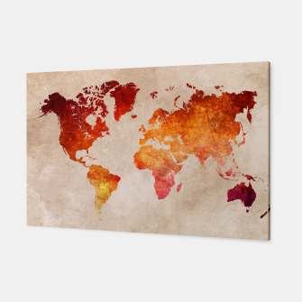 Thumbnail image of world map red Canvas, Live Heroes