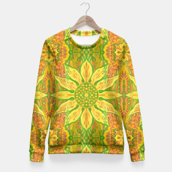 Thumbnail image of Sun Flower,  yellow, green and orange Fitted Waist Sweater, Live Heroes