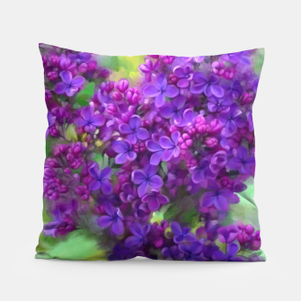 Thumbnail image of Watercolor Lilac Pillow, Live Heroes