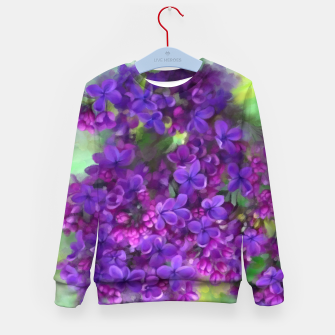 Thumbnail image of Watercolor Lilac Kid's Sweater, Live Heroes