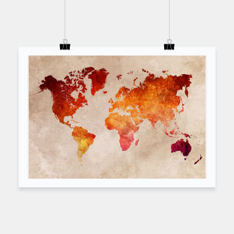 Thumbnail image of world map red Plakat, Live Heroes