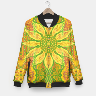 Thumbnail image of Sun Flower,  yellow, green and orange Baseball Jacket, Live Heroes