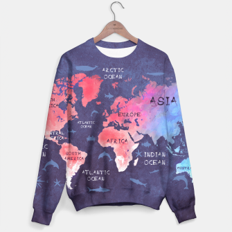 Thumbnail image of world map blue red Bluza, Live Heroes