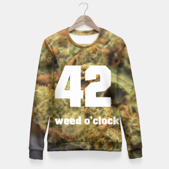 Thumbnail image of Weed o clock Fitted Waist Sweater, Live Heroes