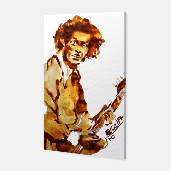 Thumbnail image of Chuck berry coffee guitar rock C Canvas, Live Heroes