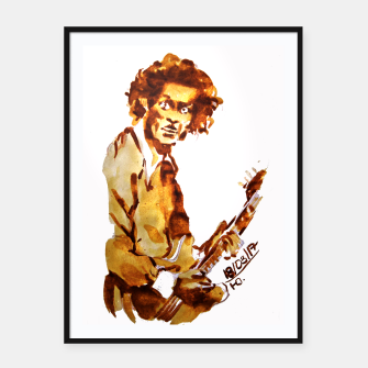 Thumbnail image of Chuck berry coffee guitar rock C Framed poster, Live Heroes