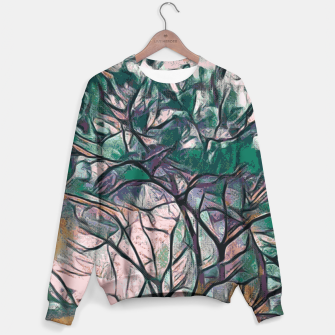 Thumbnail image of GREEN TREE PAINTING Sweater, Live Heroes