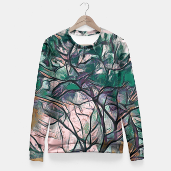 Thumbnail image of GREEN TREE PAINTING Fitted Waist Sweater, Live Heroes
