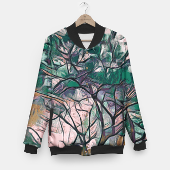Thumbnail image of GREEN TREE PAINTING Baseball Jacket, Live Heroes