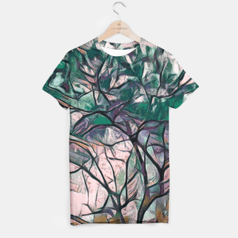 Thumbnail image of GREEN TREE PAINTING T-shirt, Live Heroes