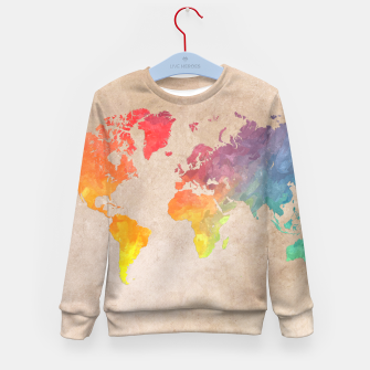 Thumbnail image of world map color Bluza dziecięca, Live Heroes