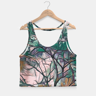 Thumbnail image of GREEN TREE PAINTING Crop Top, Live Heroes
