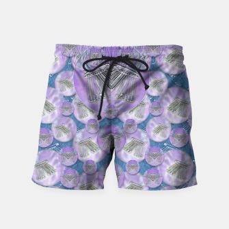Thumbnail image of Tribute to heavy metal and safety pop art Swim Shorts, Live Heroes