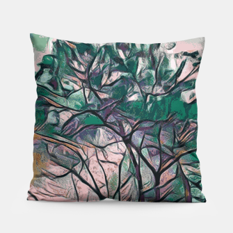 Thumbnail image of GREEN TREE PAINTING Pillow, Live Heroes