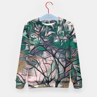 Thumbnail image of GREEN TREE PAINTING Kid's Sweater, Live Heroes